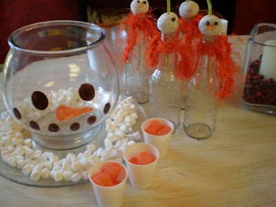 Donut hole bottle toppers, snowman punch bowl tutorial, Matthew Mead