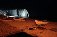 plage etretatla nuit