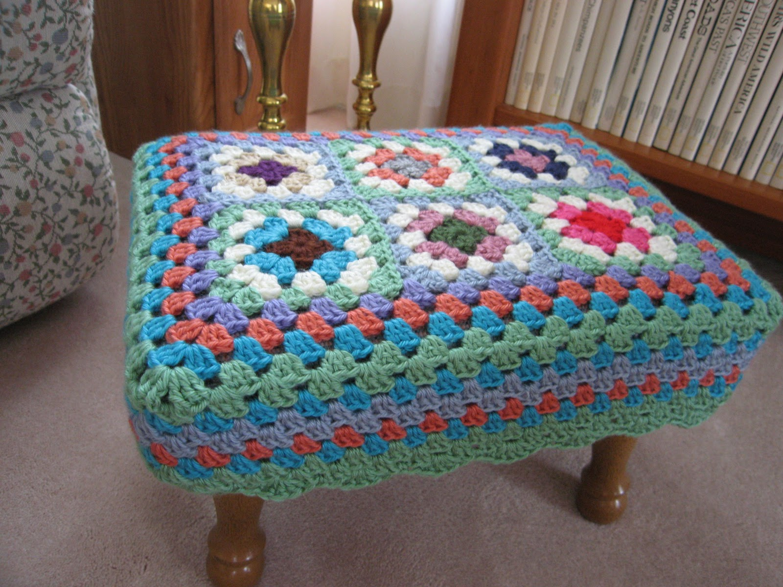Crochet Christmas Chair Covers Ikea Chairs Living Room Teacup Lane A Different Granny Square Cover