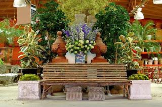 aranjament gradina, vase plantare teracota, vanzare jardiniere, gradina romantica, curte stil romantic,