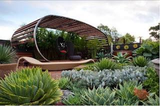 gradina moderna, design gradina, arhitect peisagist, pavilion de vara, firma peisagsitica, plante suculente