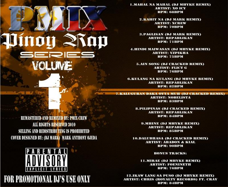 DJ MHYKE: P-MIX Pinoy Rap Series Vol  1