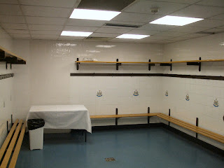 The away team dressing room