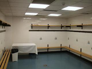 The away team dressing room