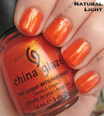 There are many different shades of orange nail polish, but I think this shade is one of the best. It practicley glows!