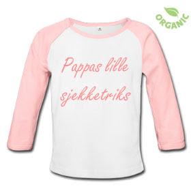 af7ae891 Kule T-skjorter Nettbutikk: Pappas lille sjekketriks babybody jente