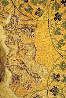 Cristo representado como Helios, el Dios-Sol (S.III d.C.)