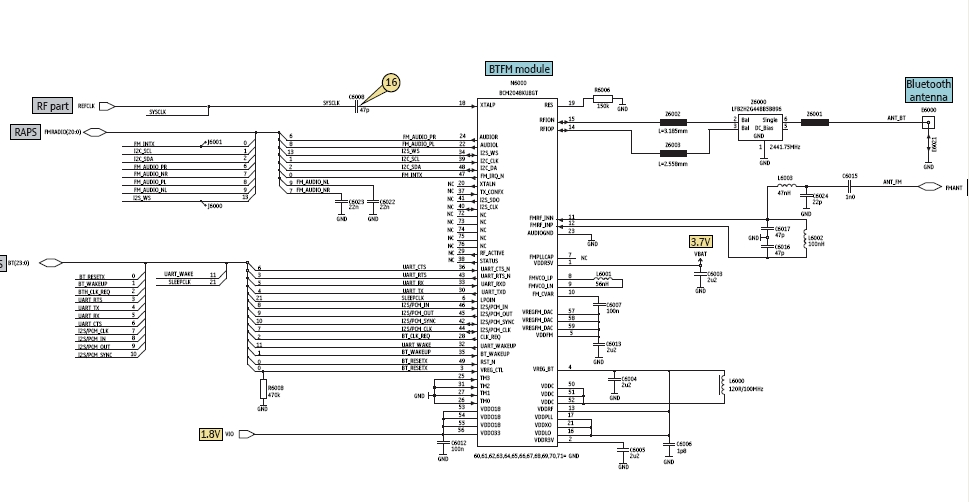 Understanding about bluetooth circuit in mobile phones, a key to fix