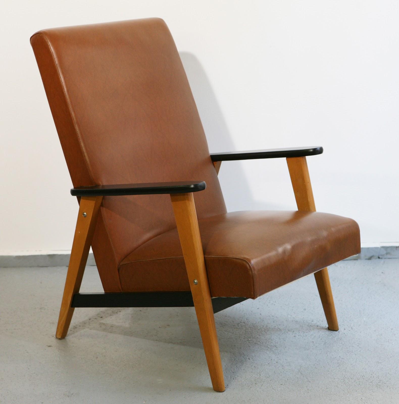 baos fauteuil vintage ann es 60 en ska. Black Bedroom Furniture Sets. Home Design Ideas