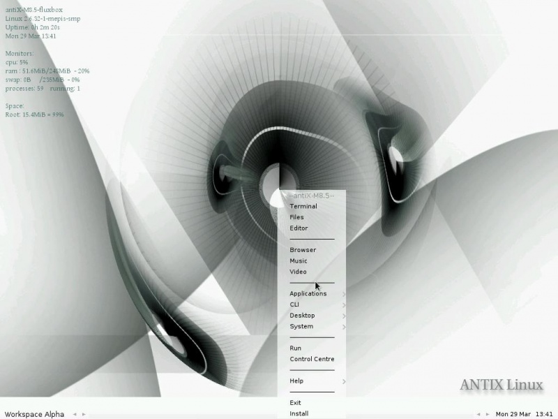 Old Machine? AntiX is a fast, lightweight and easy to install linux