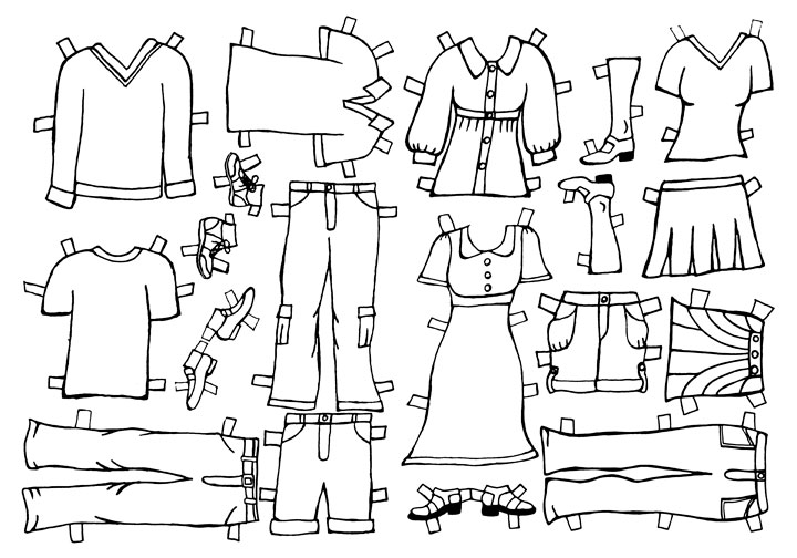 paper doll clothes templates xv-gimnazija