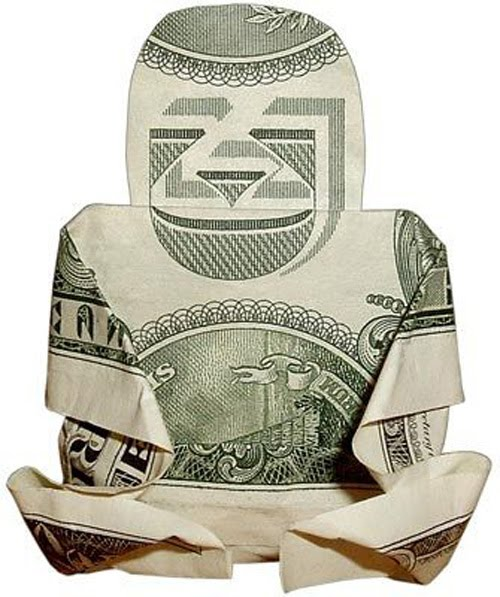 Easy Origami Turtle Dollar Bill