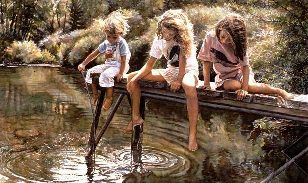 Nude watercolors of steve hanks - 1 2
