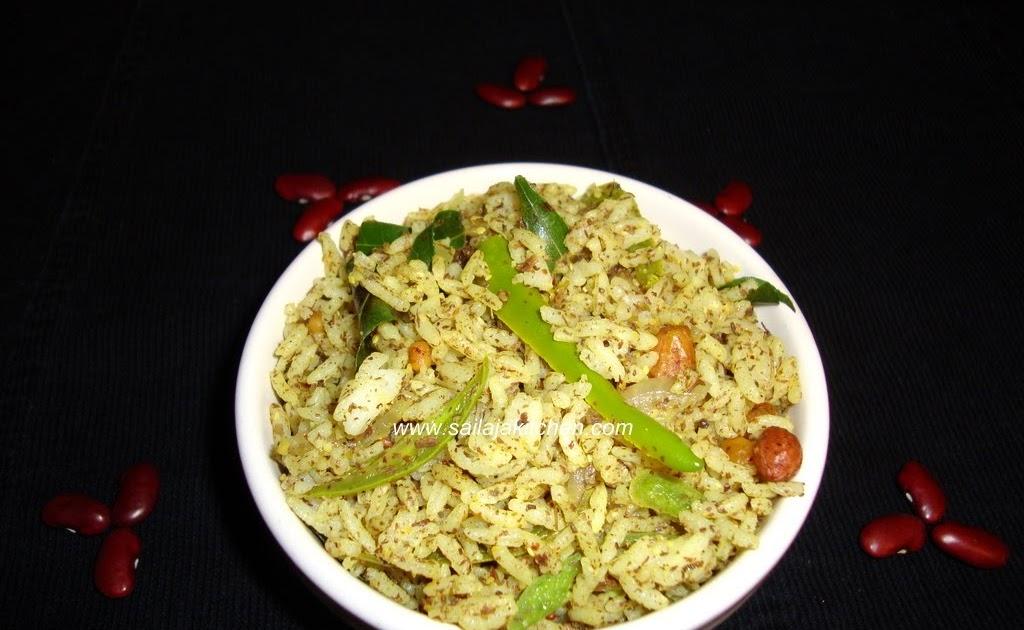 Sailaja Kitchen...A site for all food lovers!: Dry Chinta Chiguru(Tender Tamarind Leaves) Puliyohara/Puliyodharai