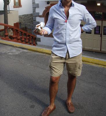 mejor servicio 0b504 4dcbf GORGEOUS STYLES: Moda hombre en la sierra: bermudas cargo + ...