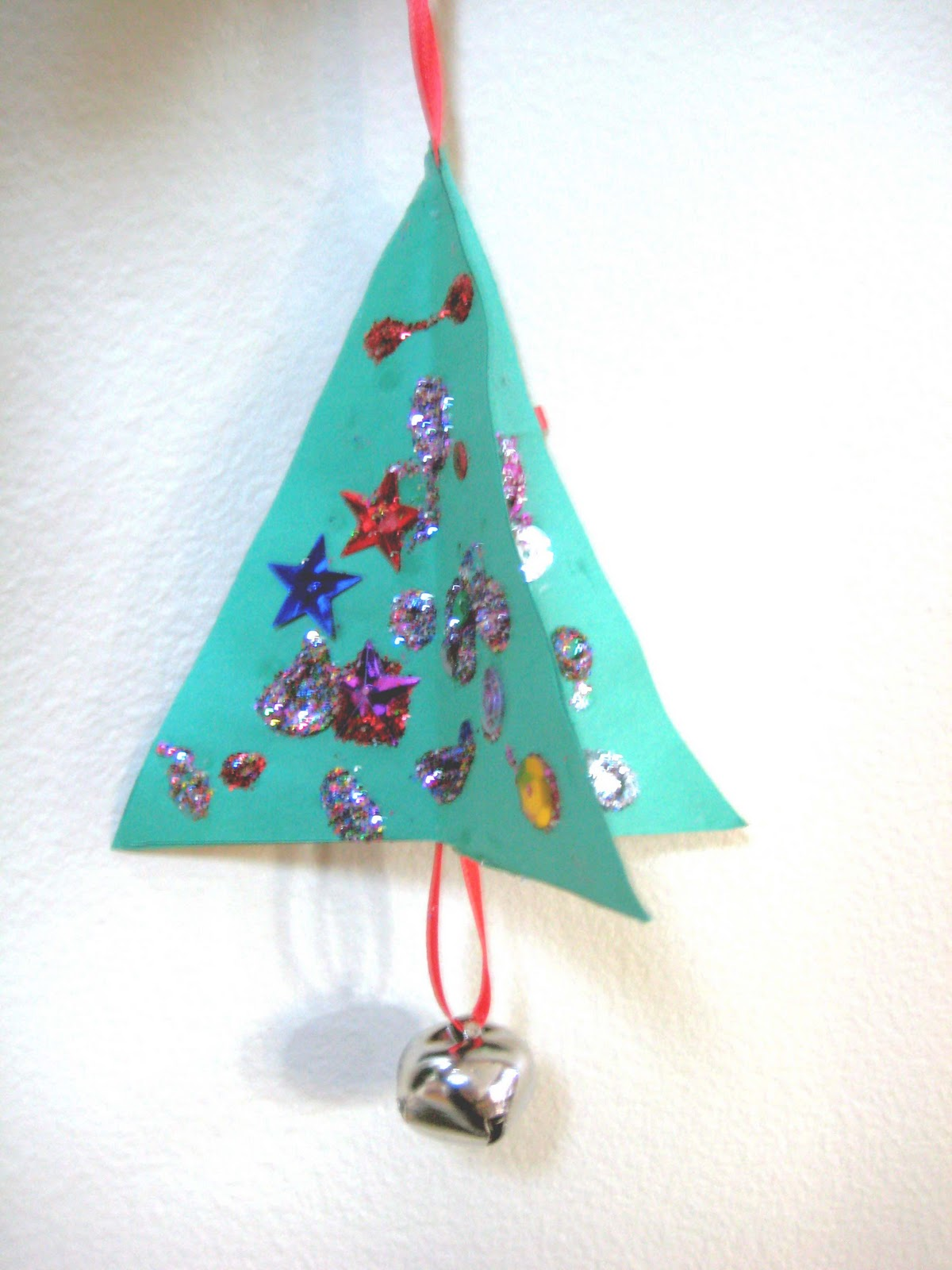 Christmas Kids Craft Simple 3D Paper Ornaments