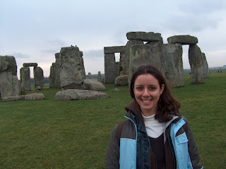 Zita em Stonehenge