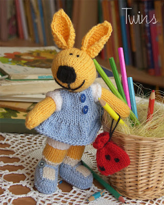 knitted bunny knitted rabbit knitted toy