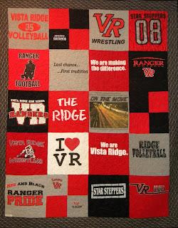 Centex Quilting Company Vista Ridge High School Quilt