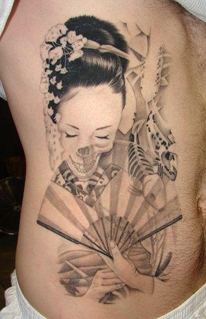 Japanese Geisha tattoos Design-4