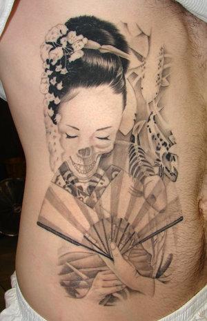 Japanese Geisha tattoos Design-4