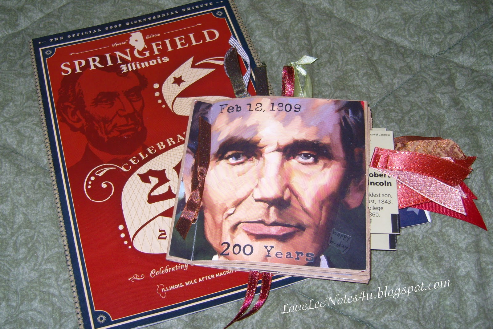 Lovelee Notes Lincoln S Birthday Brochure Book Amp A Coin