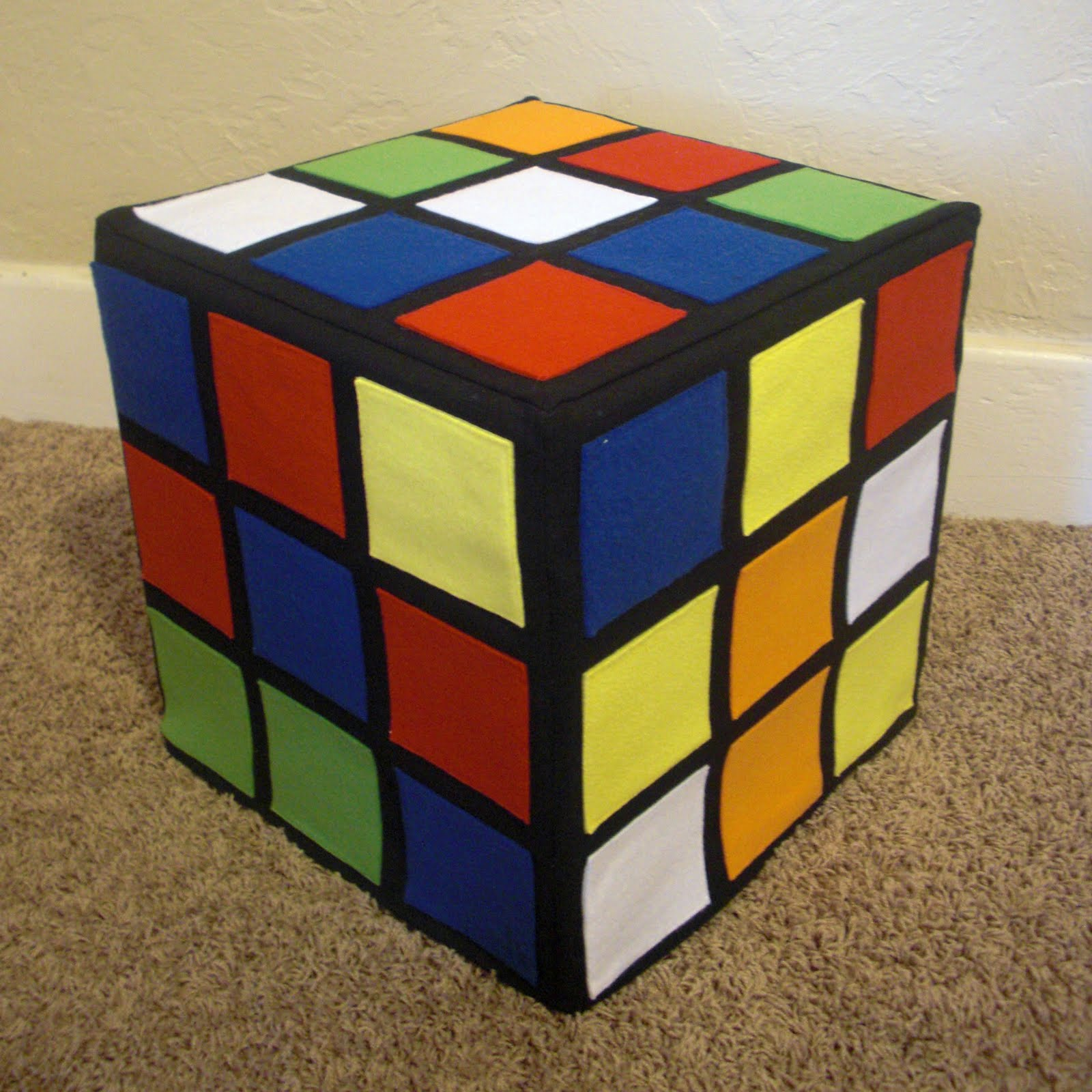 Obsessively Stitching Rubik S Cube The Ottoman