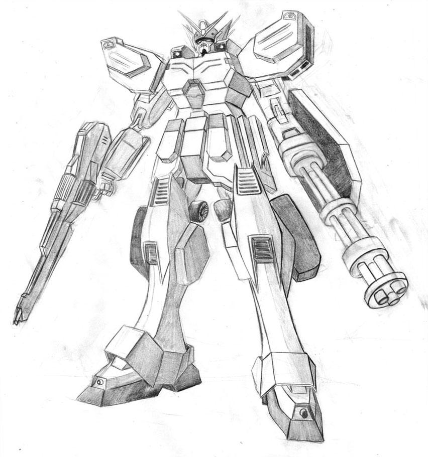 Anthony McKeown Illustration: Gundam Heavyarms