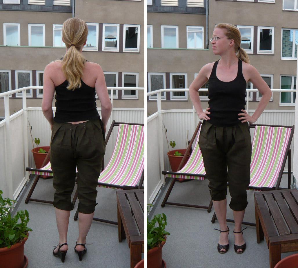 Ancien-Nouveau: Patrones Pantalon Anudado
