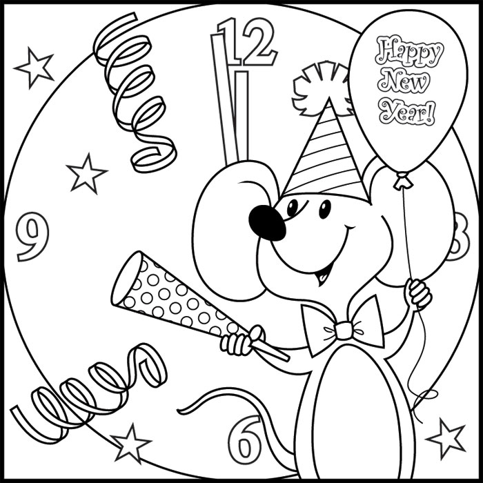 New year wallpapers november 2009 for Coloring pages new years eve