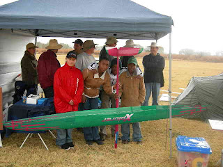 Keen pilots: (l-r) Jason, Bhopelo, Simon & Tsepho on a bitterly cold & wet July 2009 day at SGC