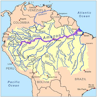 dian's blog: amazon river delta map