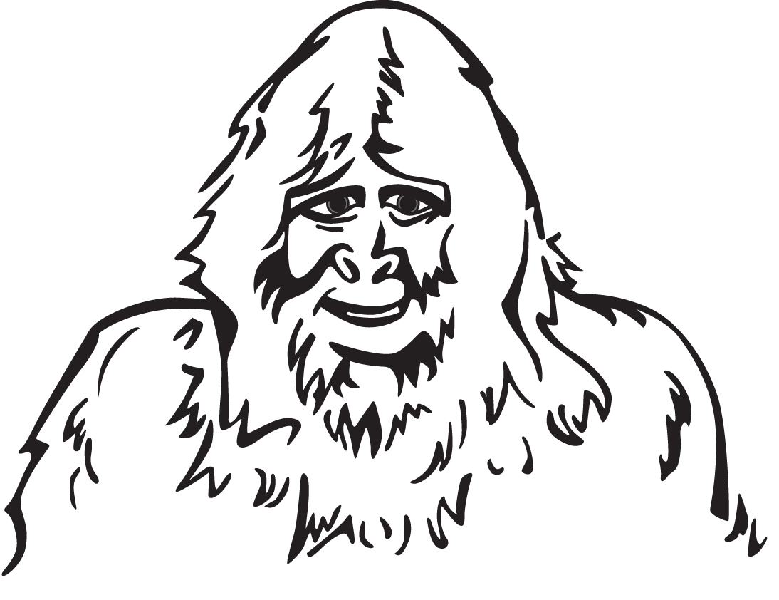 Sasquatch coloring pages