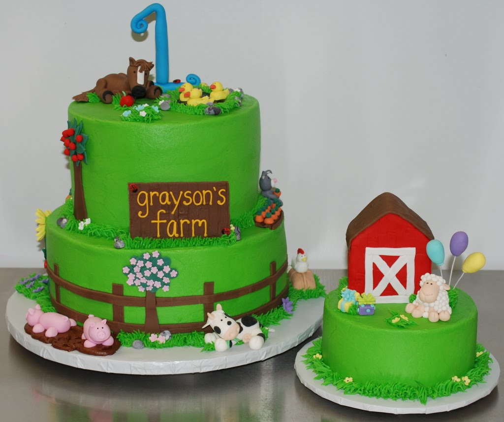 The Bakery Next Door Farm Birthday Cake