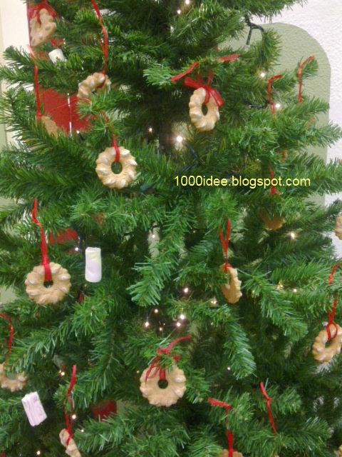 Albero Di Natale Addobbato Con Biscotti.Addobbi E Decorazioni Di Natale Fai Da Te Albero Da Mangiare 1000 Idee