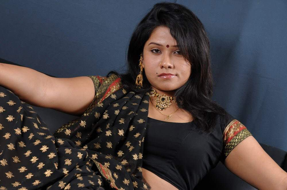 Telugu Actress Jyothi In Blue Salwar: Actress Photos: Actress Jyothi Hot Masala Saree Blouse