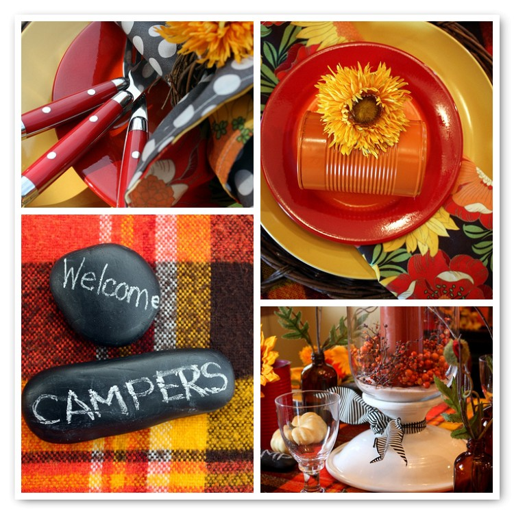 Sweet Something Designs Happy Camper Tablescape