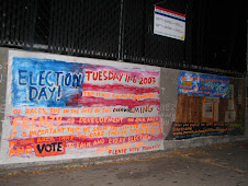 Election Day Mural at Democracy Wall