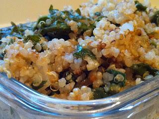 Cheesy quinoa and kale