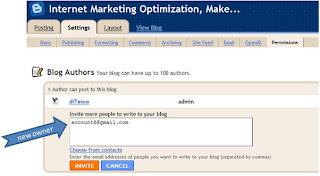 Blogger Owner