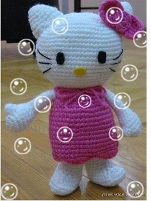 Amigurumi Türkiye-Hello Kitty (kedi) Tarifi | 400x301