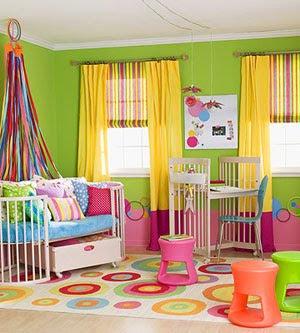 colorido cuarto de los niños