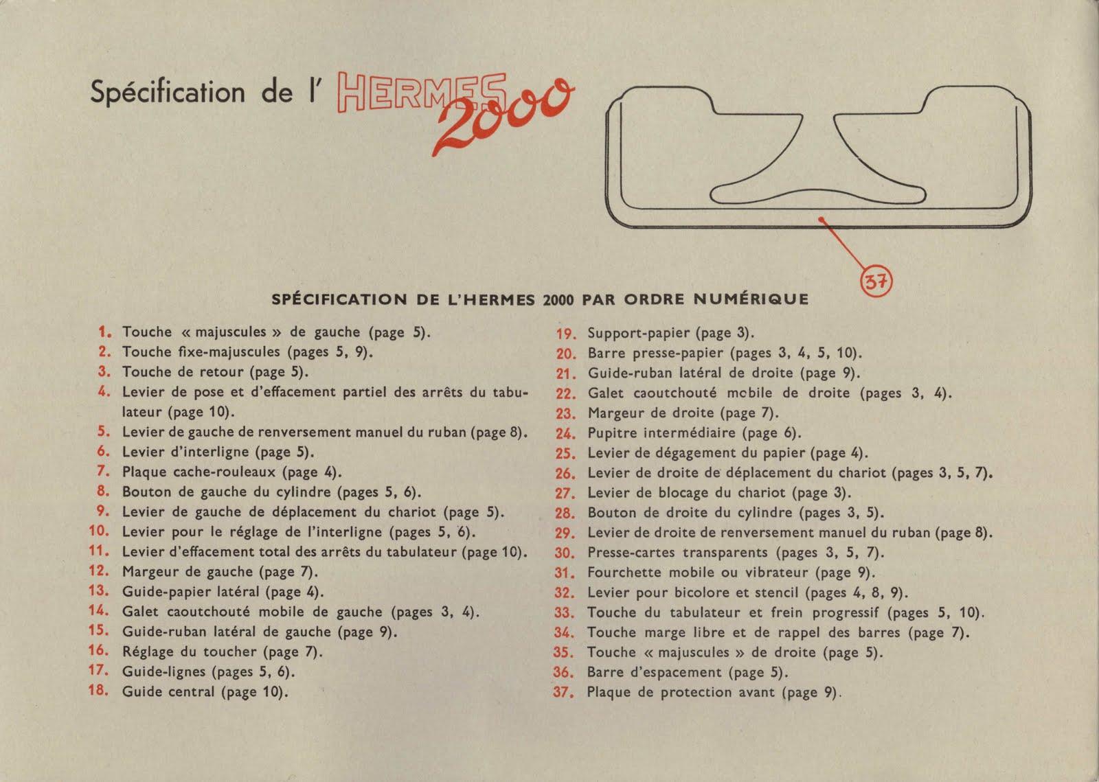 Manual Typewriter Diagram 2000w Power Amplifier Circuit Retro Tech Geneva Ephemera Hermes 2000