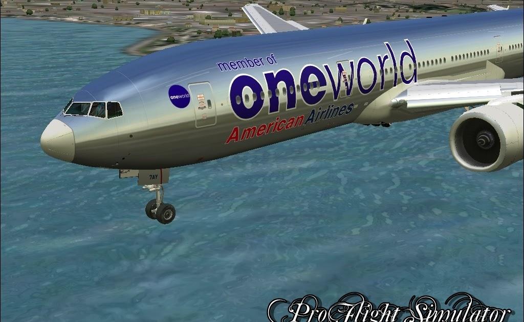 Fs2004 Brasil Fs2004 B777 200er American Airlines One World