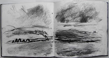 From the Creel boat - sketchbook