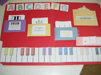 Teaching Piano to Children with Piano Preschool Lapbook including Music Alphabet, Finger Numbers, Rhythm