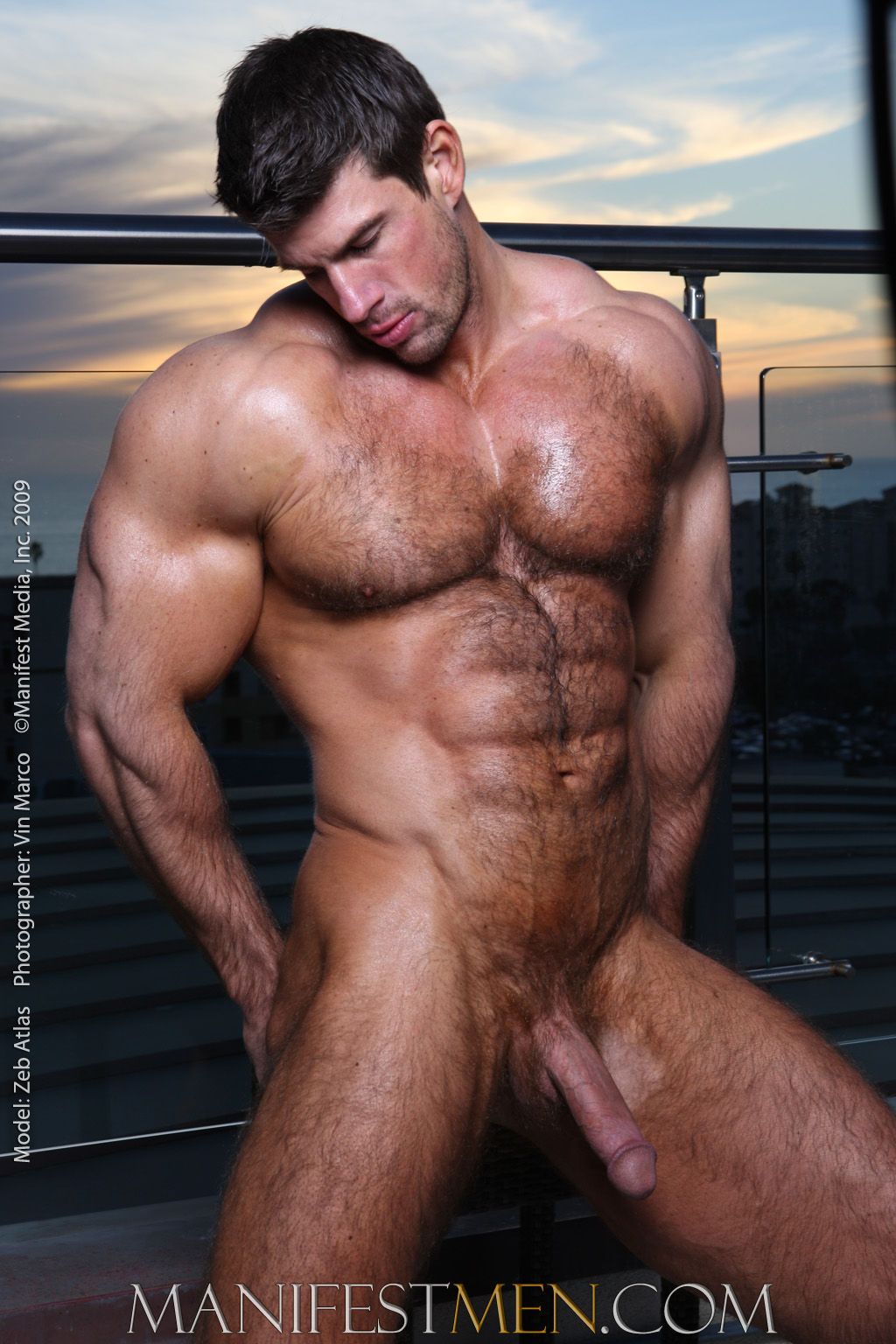 Handsome naked hairy men for