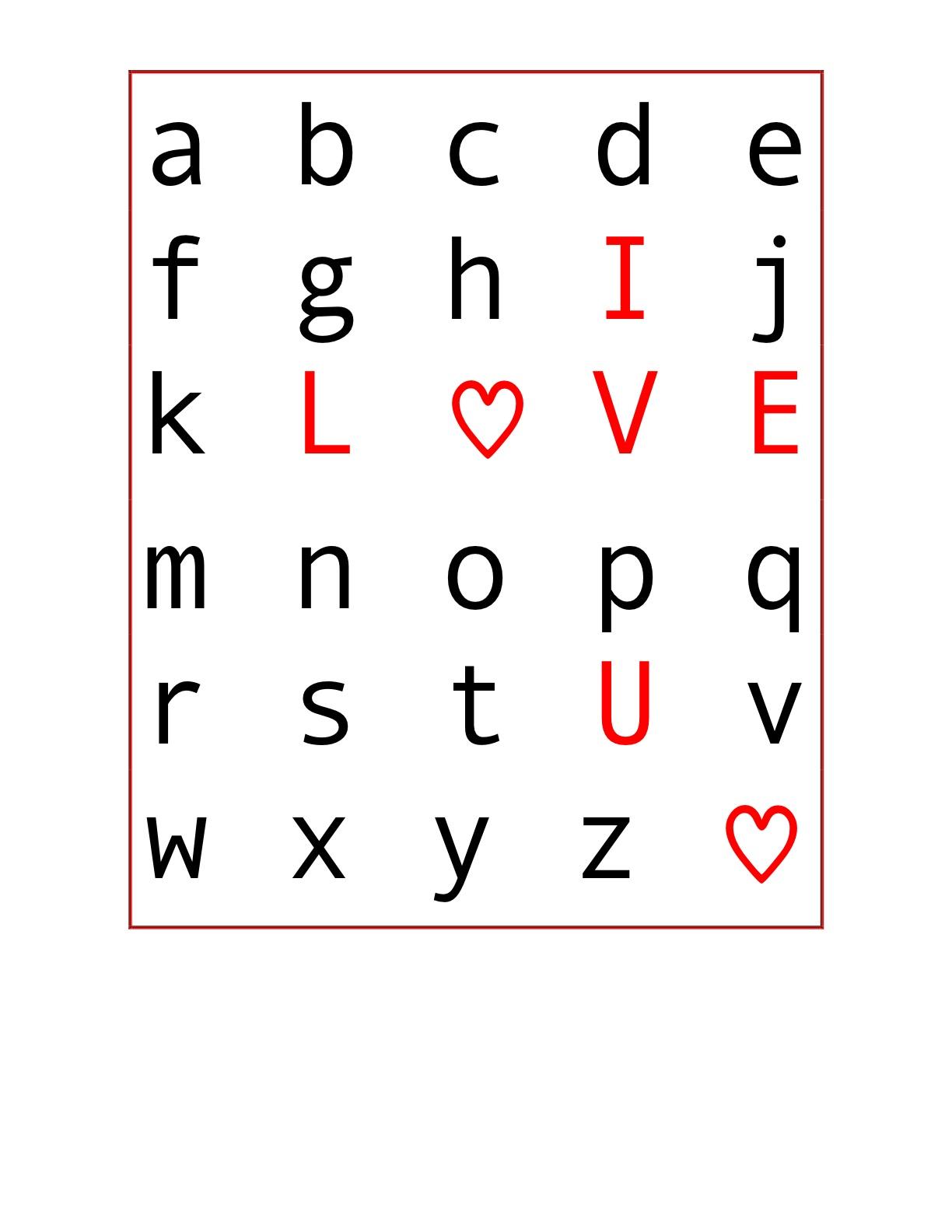 Valentine C R A F T 1 Abc Freebie