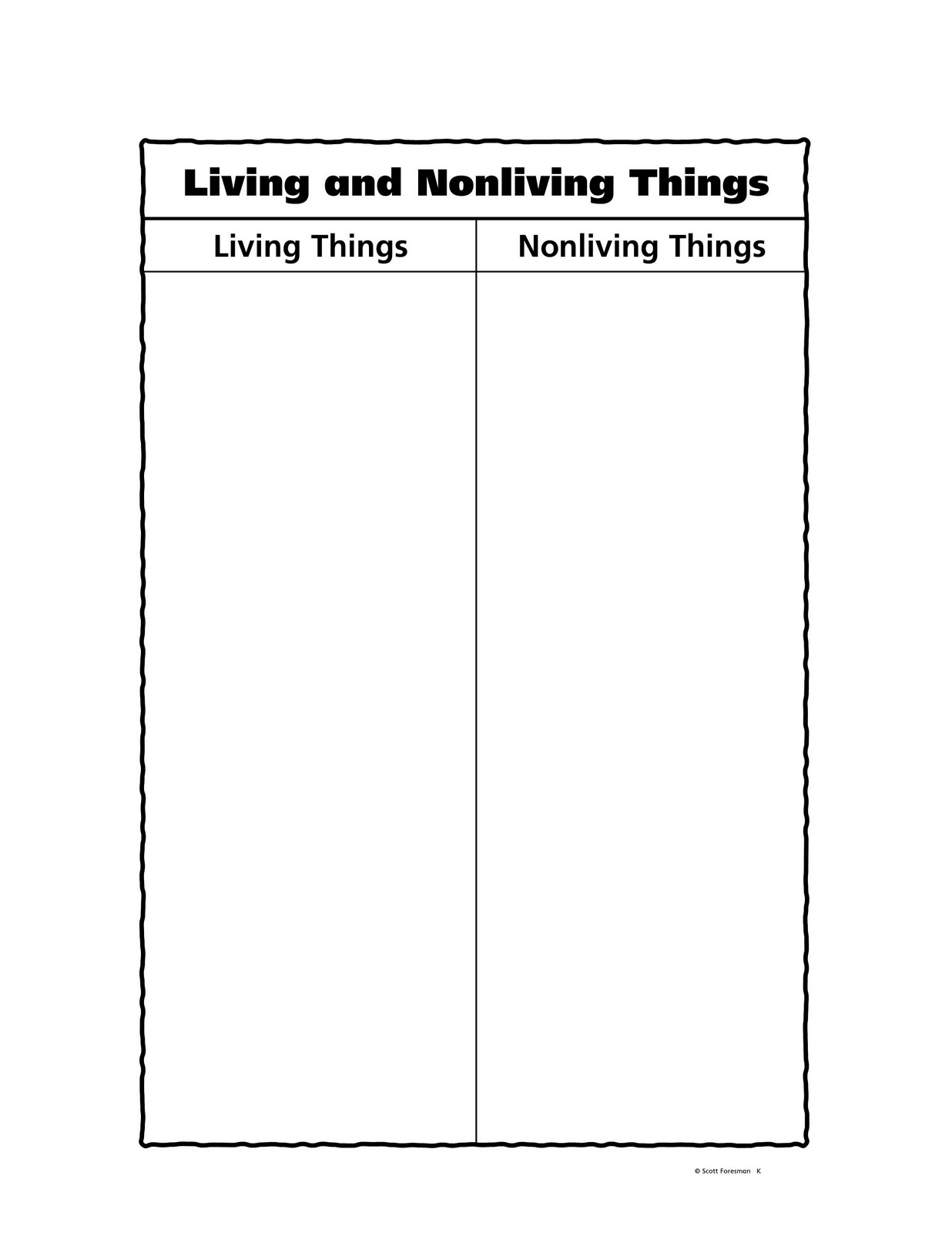 Science Tercero Living And Non Living Things