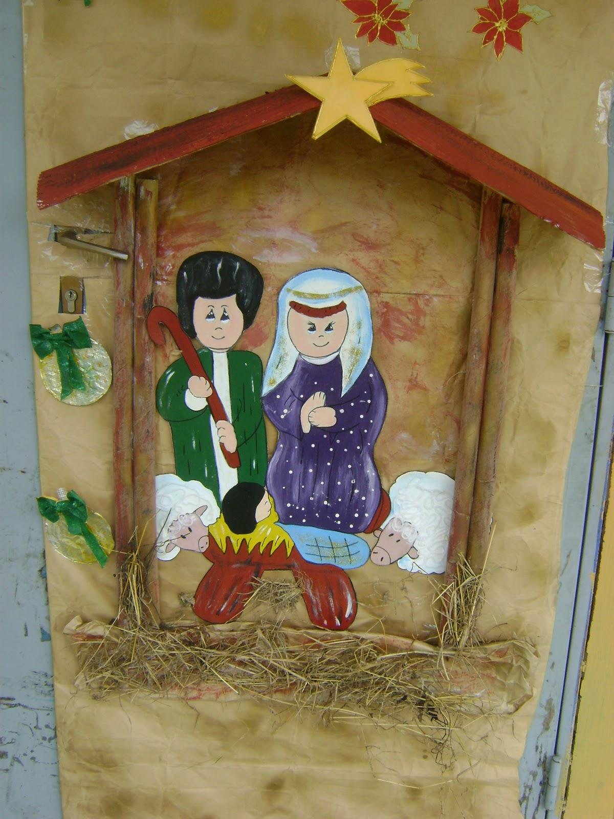 Escuela b sica jabillito navidad 2010 2011 for Puertas decoradas arbol de navidad